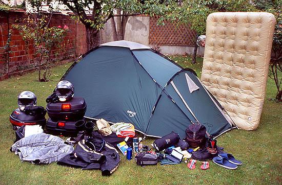 matelas camping moto